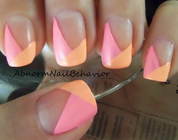 Peach French Tip Nails Designs