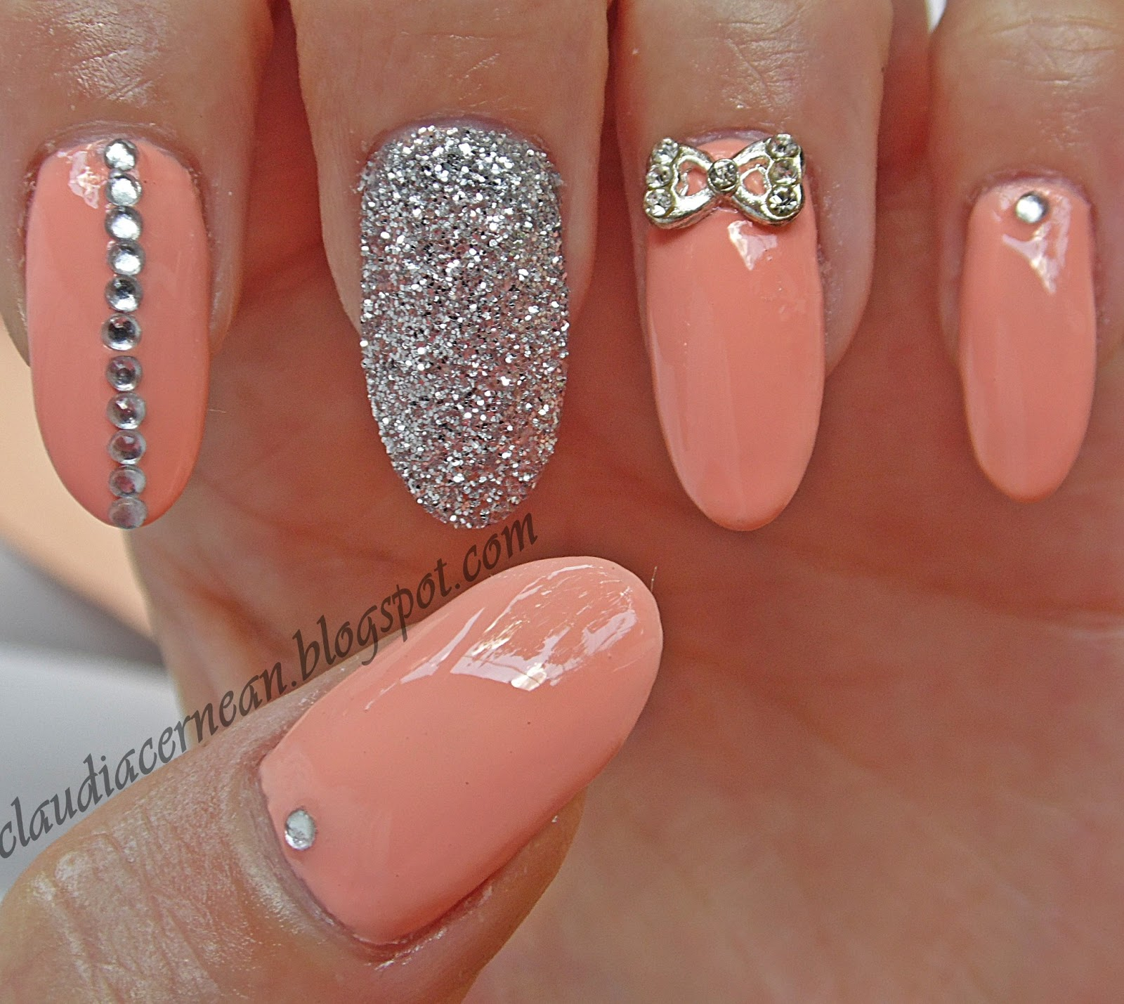 13 Peach Nail Designs Images