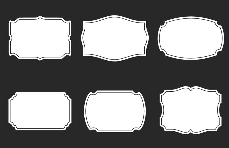 7 Square Button PSD Shapes Images