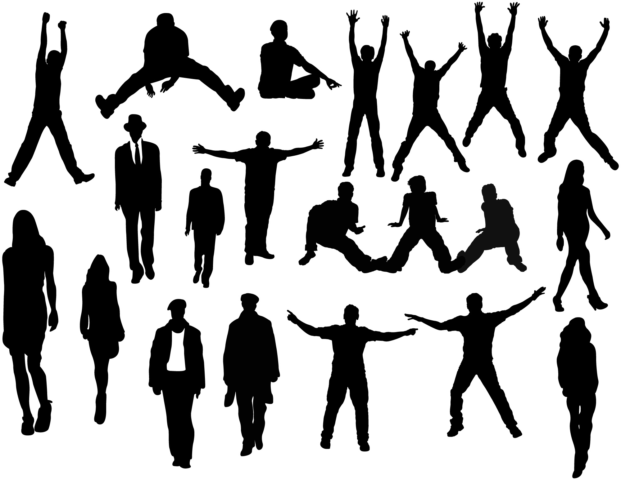 Photoshop People Silhouettes