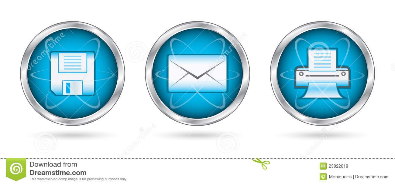 15 Mail Icon Printable Images - Print Button Icon Printer ...