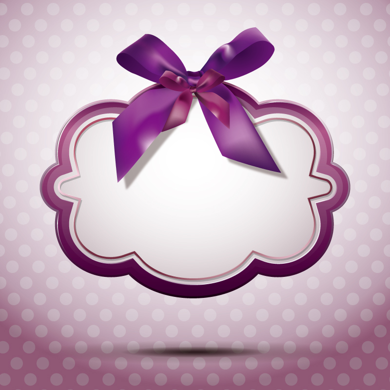 Purple Ribbon Vector Graphic