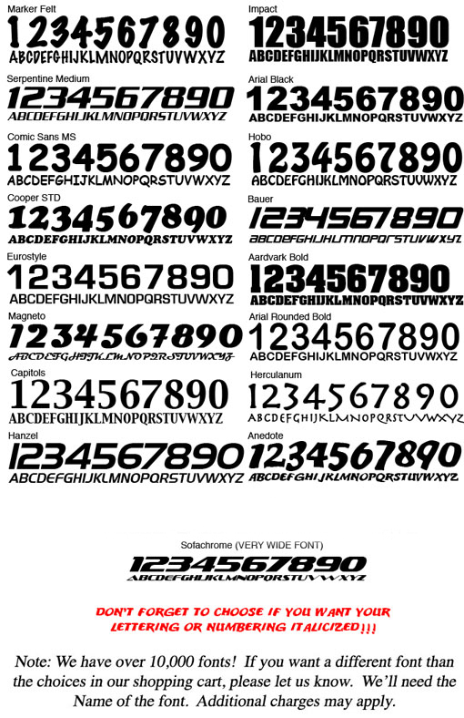 14 Fonts Used On Race Cars Images Race Car Number Fonts