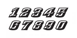 14 Fonts Used On Race Cars Images - Race Car Number Fonts