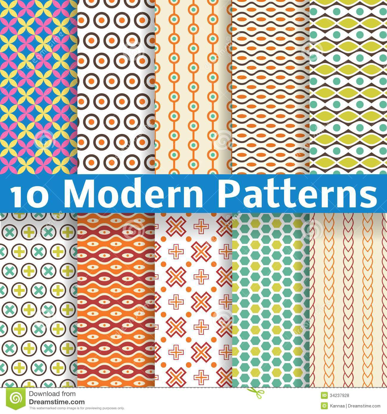 Seamless Modern Fabric Patterns