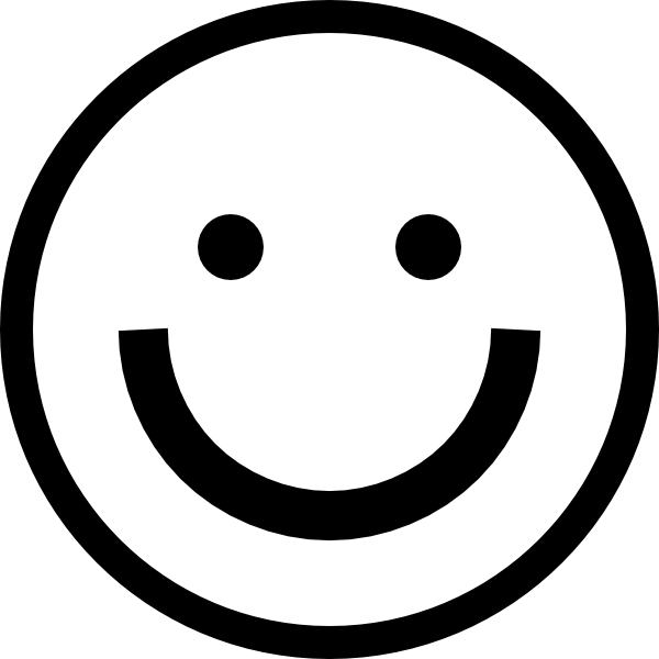 Smiley Face Clip Art Black White