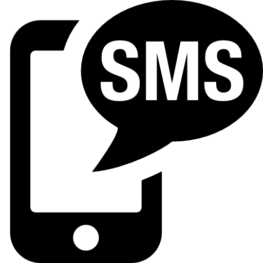 15 Black SMS Png Icon Images