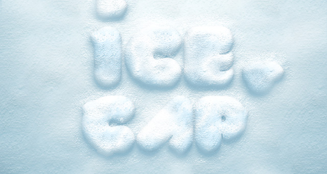 Snow Text Effect Photoshop