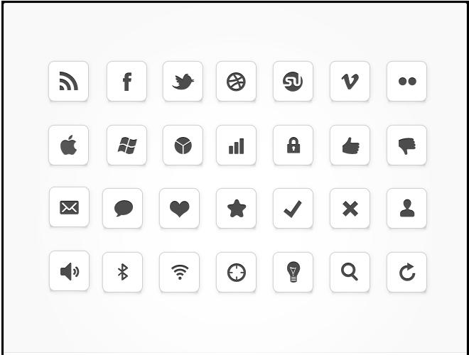 10 Minimal Icon Set PNG Images