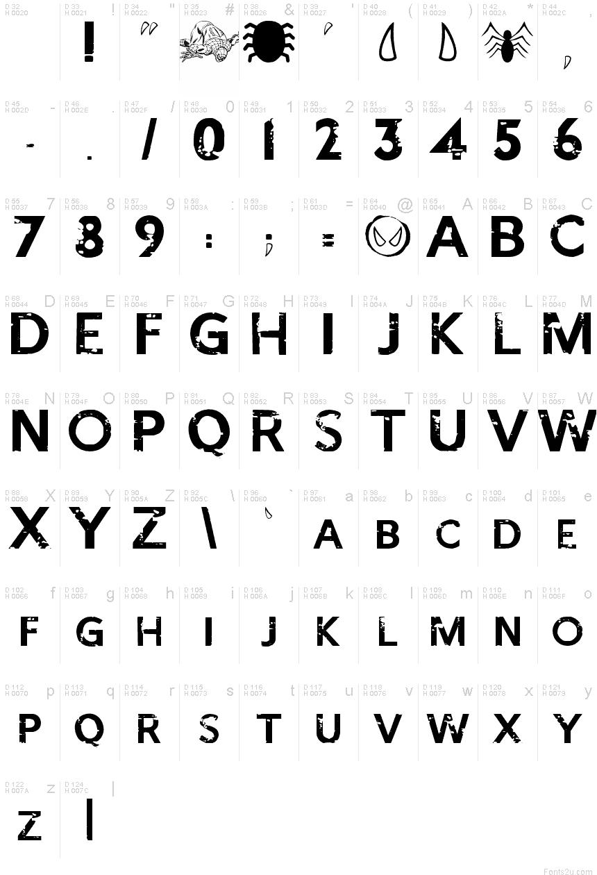 Spider-Man Letters Font
