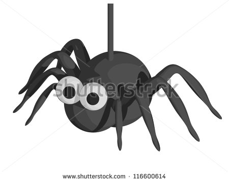 Spider Web Halloween Cartoon