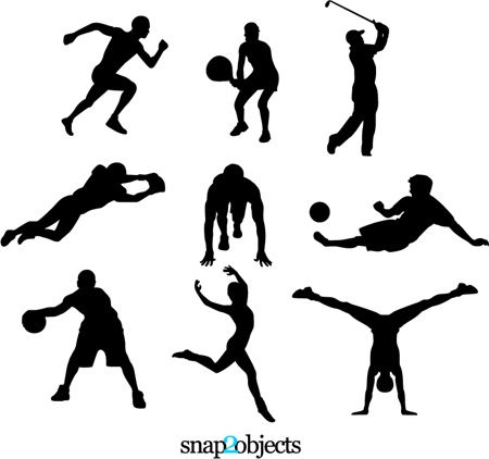 11 Free Vector Sport Silhouettes Images