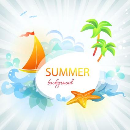Summer Vector Free Download