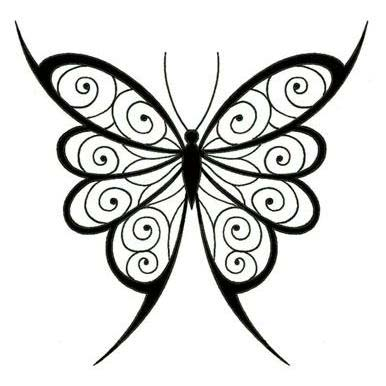 Swirl Pattern Vector Wings