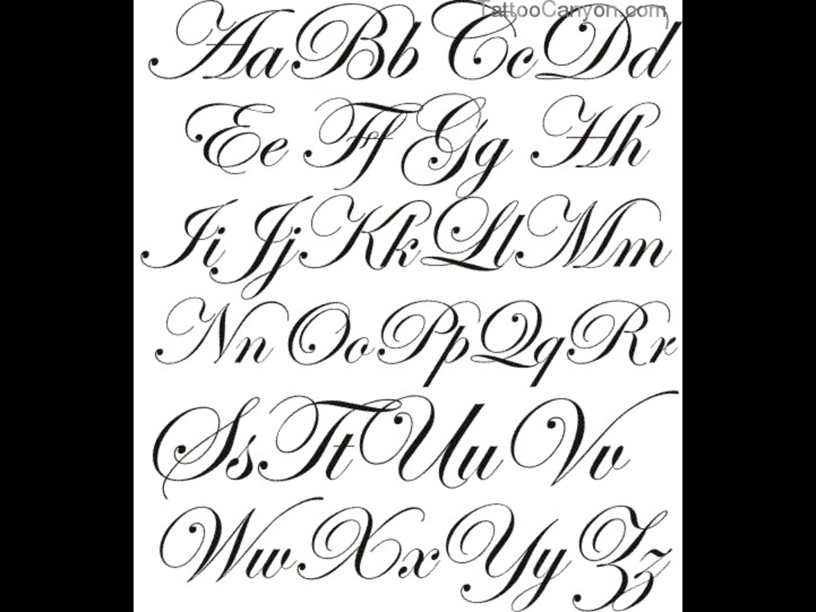 Tattoo Fonts Generator Calligraphy With Regard To Letter