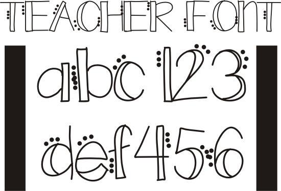 15 Teacher Alphabet Font Images