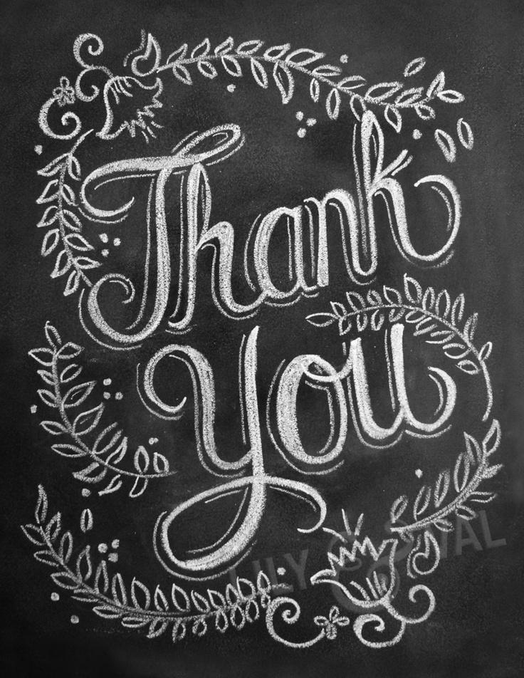 Thank You Chalkboard