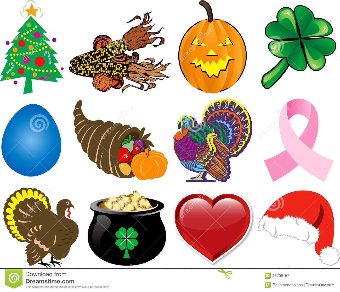 Thanksgiving Holiday Icons