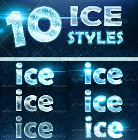 Ice Text Photoshop Style