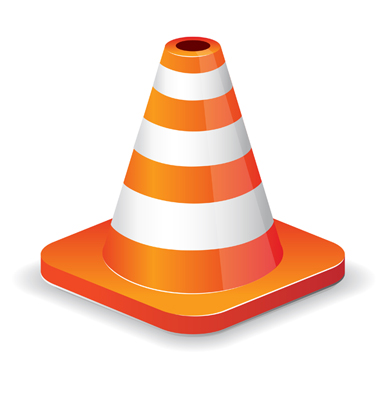 12 Vector Traffic Cone Icon Images