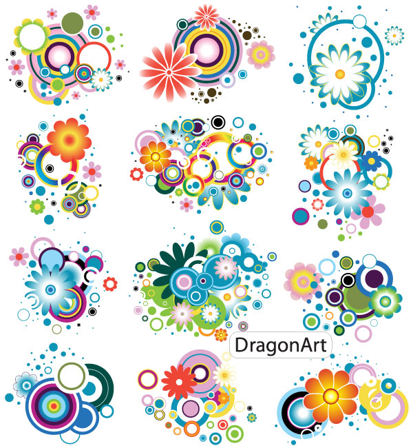 19 Colourful Flower Vector Images