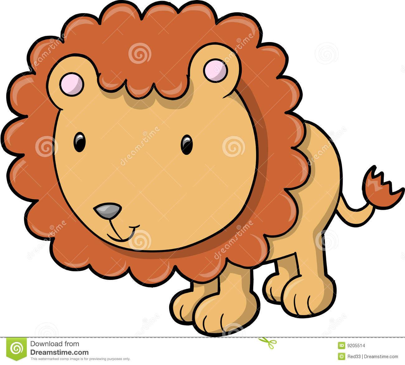 Vector Lion Safari