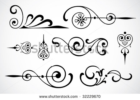 Vector Swirl Ornaments