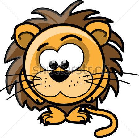 Vectors Cute Cartoon Lions