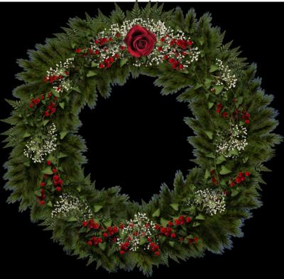 9 Christmas Wreath PSD Images