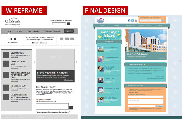 Web Design Wireframe Examples