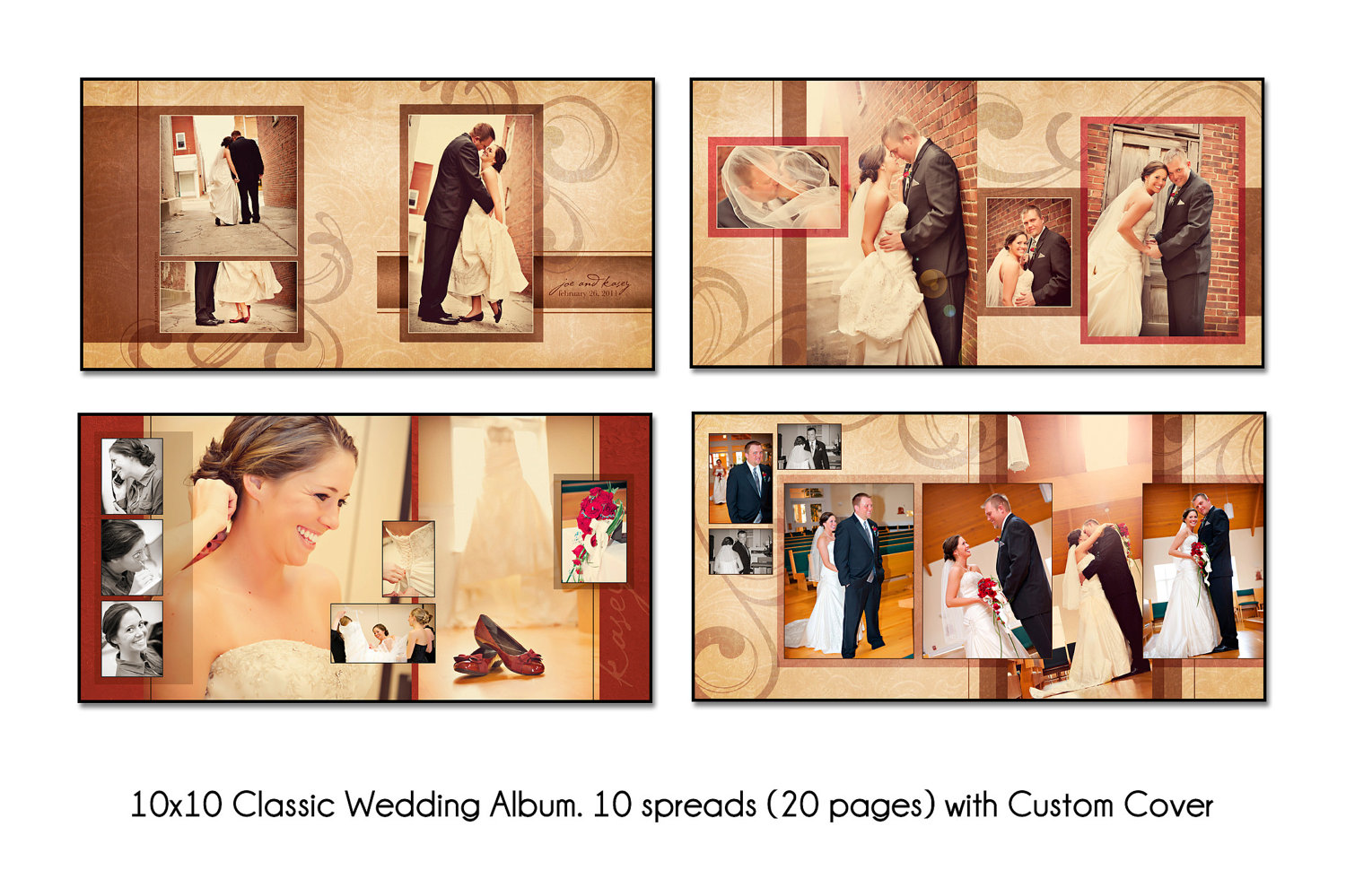6 Free Wedding Album PSD Templates Images