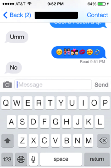 Crazy emoticon text