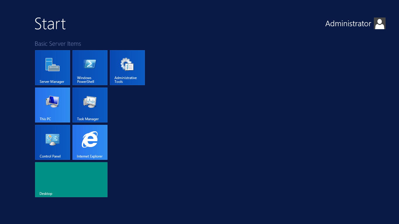 13 Windows Server 2012 Start Menu Icon Images