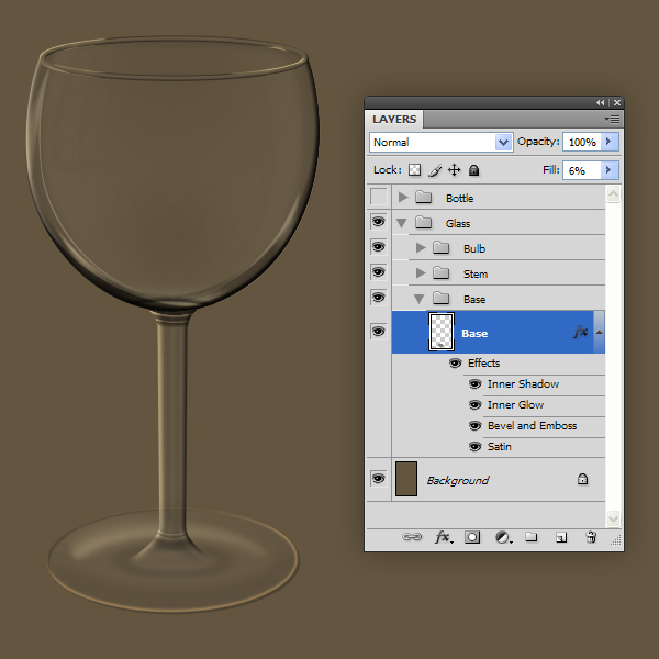 Wine Glass Template Photoshop Smart Object