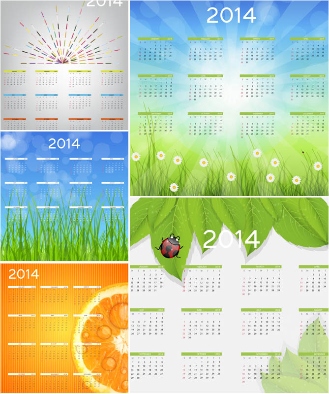 18 Calendar Template Vector Images