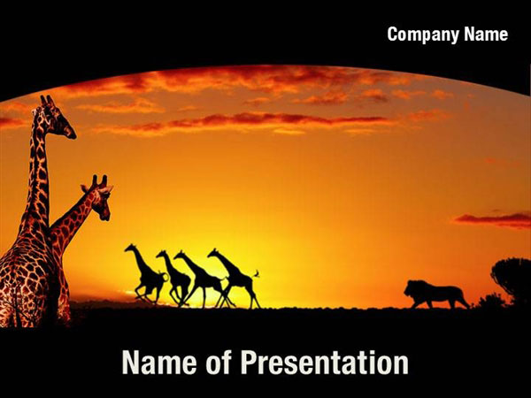 15 african powerpoint templates images african animals