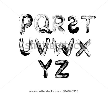 Alphabet Letters Drawn