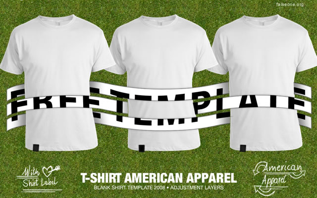 13 American Apparel Shirt Template PSD Images