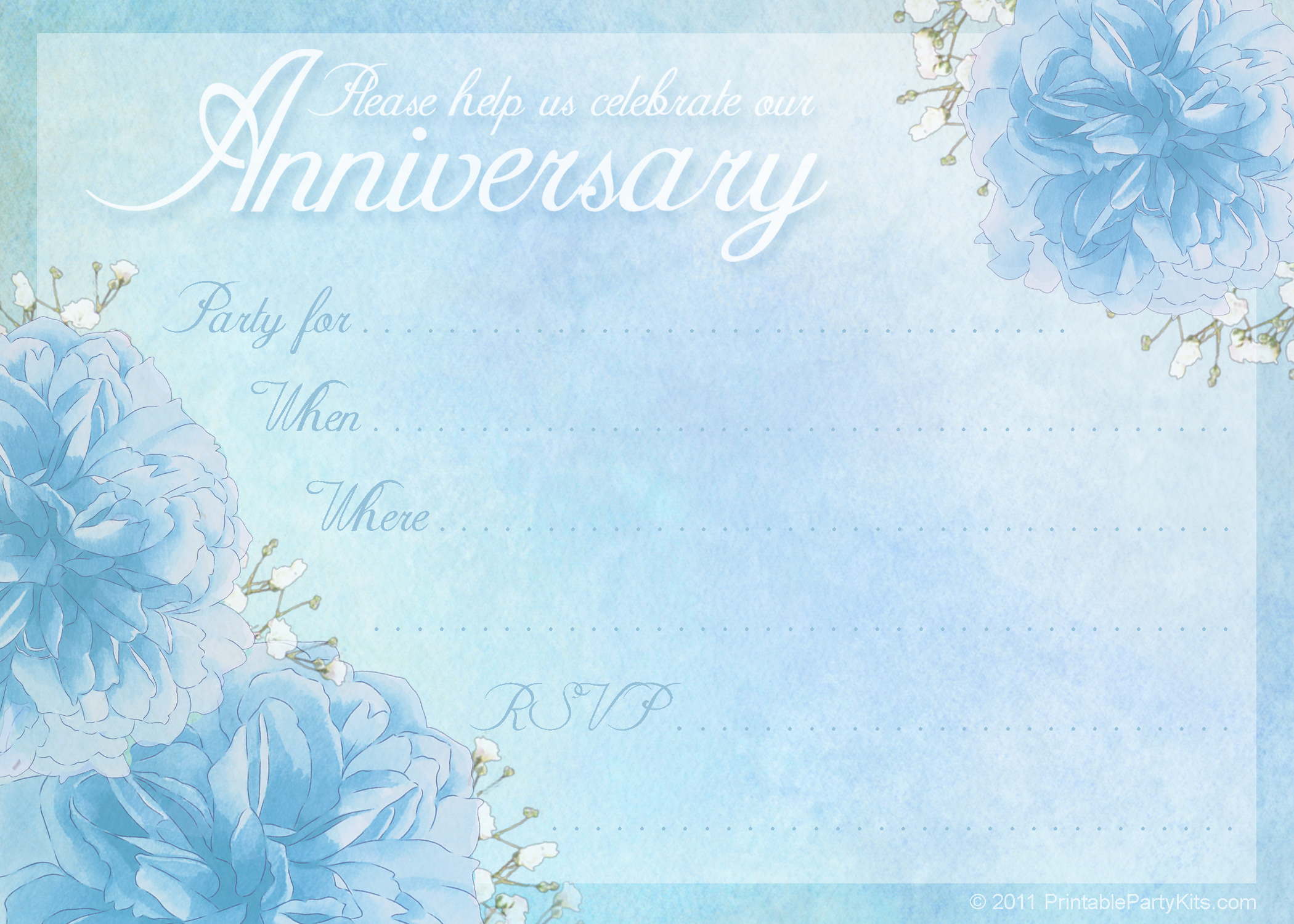 16 Wedding Anniversary Templates Free Images