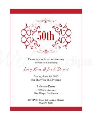 Anniversary Invitations Templates Free