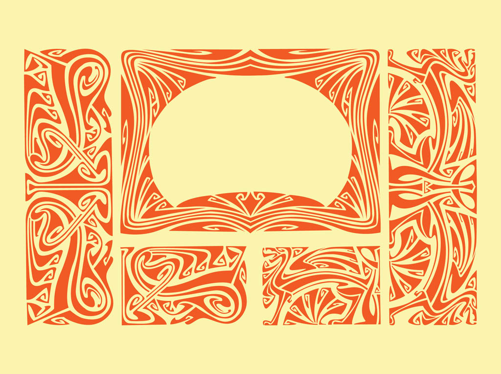 Art Nouveau Borders Vector Free