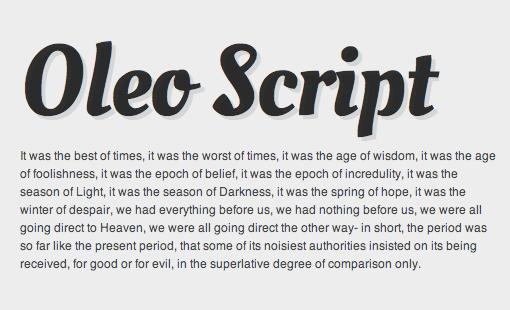 13 Web Script Fonts Images