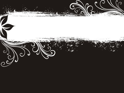 Black and White Banner