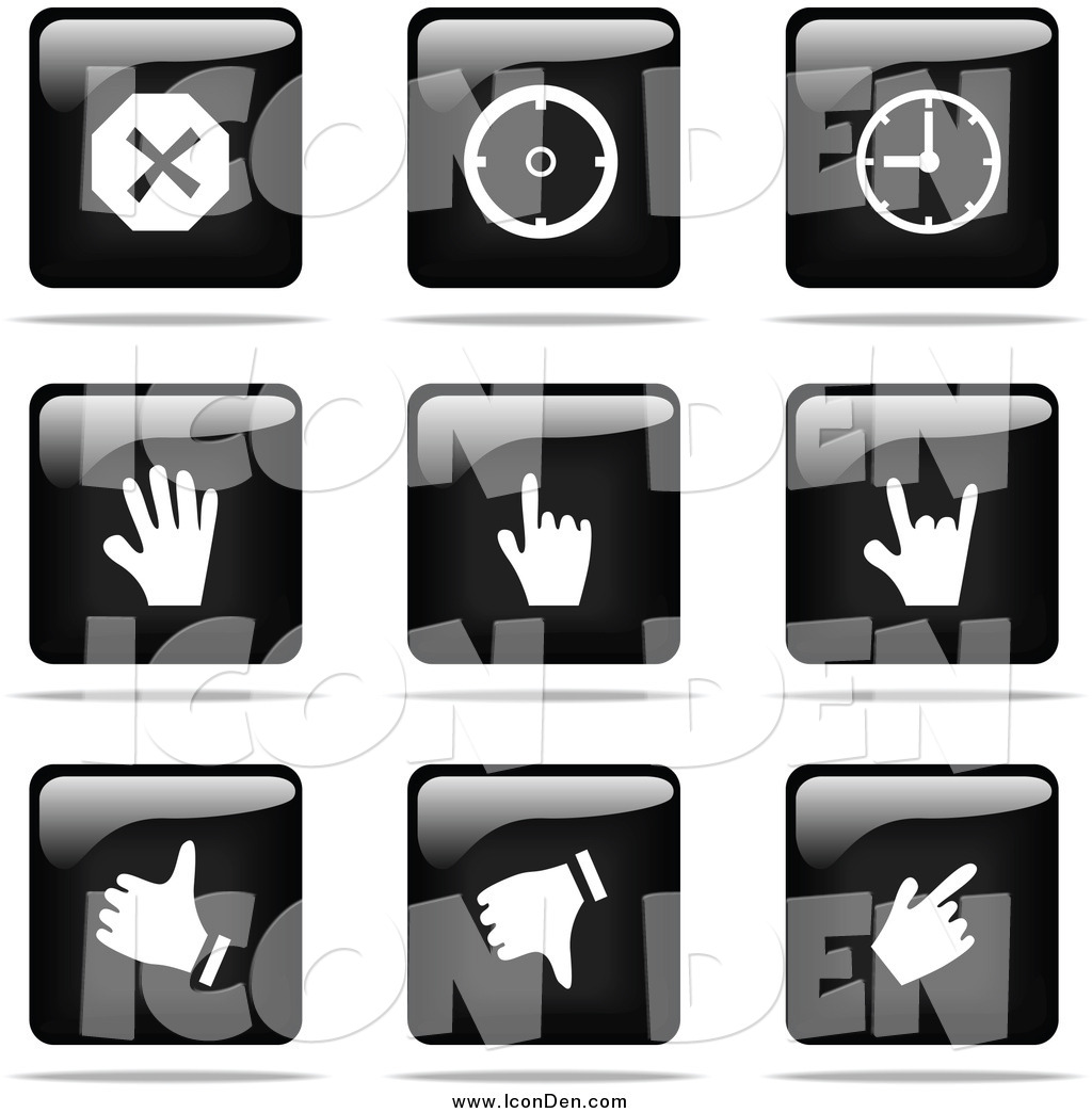 Black and White Square Clip Art