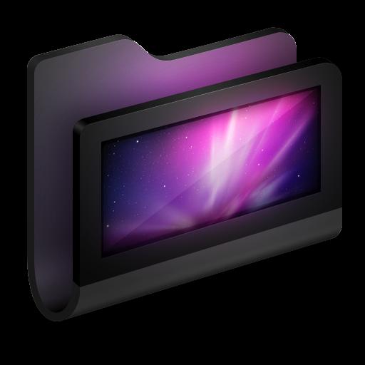 Black Computer Folder Icons