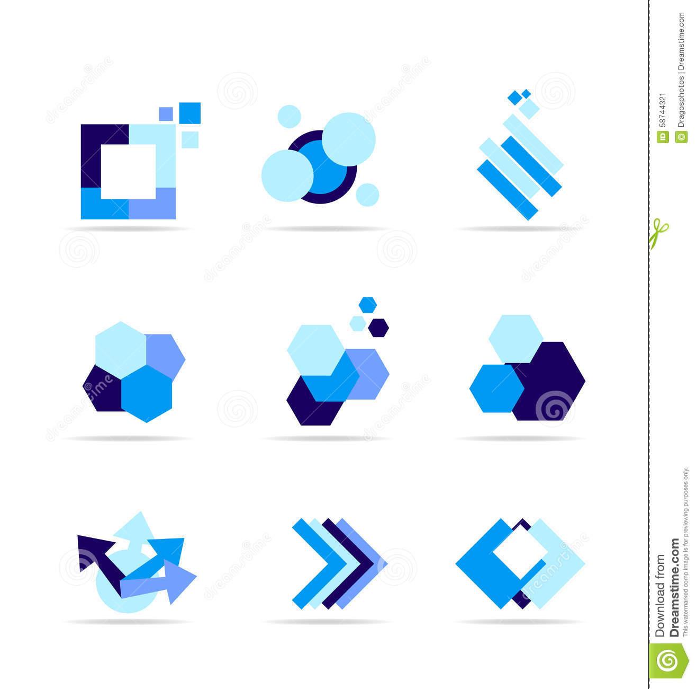 Blue Rhombus Shape