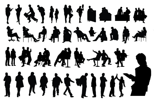 15 Vector Person Silhouette Above Images