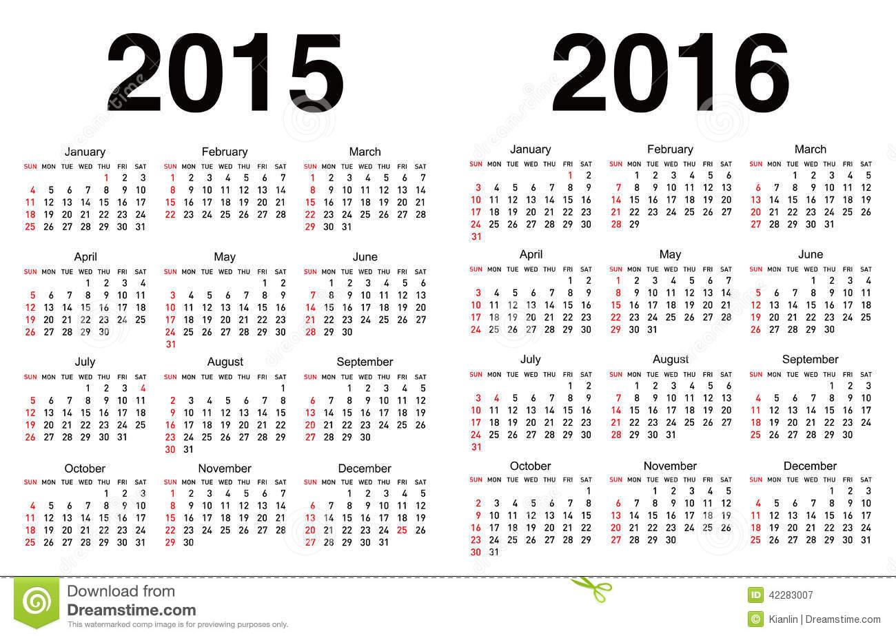 Calendar Templates 2015 2016