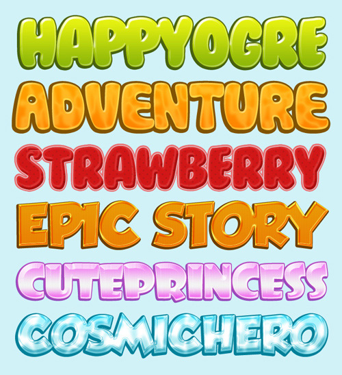 Cartoon Font Photoshop
