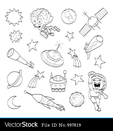 Cartoon Outer Space